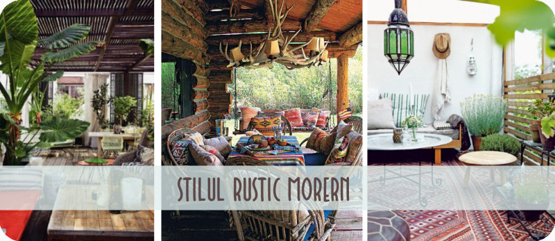 Stilul Rustic Modern