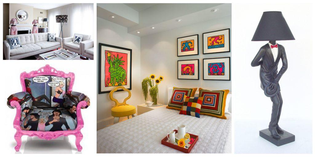 stilul pop art un stil cu adevarat colorat creativ interior
