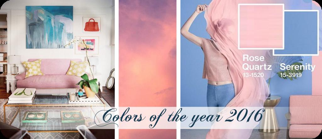 Culoarea anului 2016 – Rose Quartz si Serenity