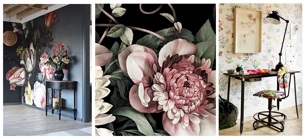 Eleganta fototapetului floral