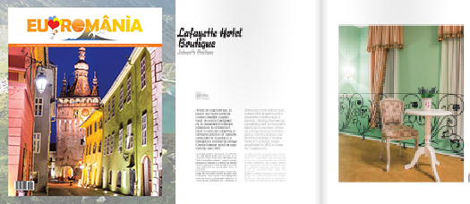 "Articolul ""Lafayette Hotel Boutique in Bucharest"" in Revista I Love Romania (Decembrie 2014)"