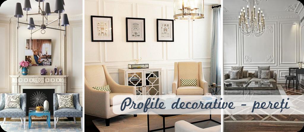 Profile decorative in interioare contemporane