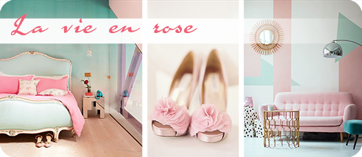 La vie en ROSE - culoarea roz intr-un interior