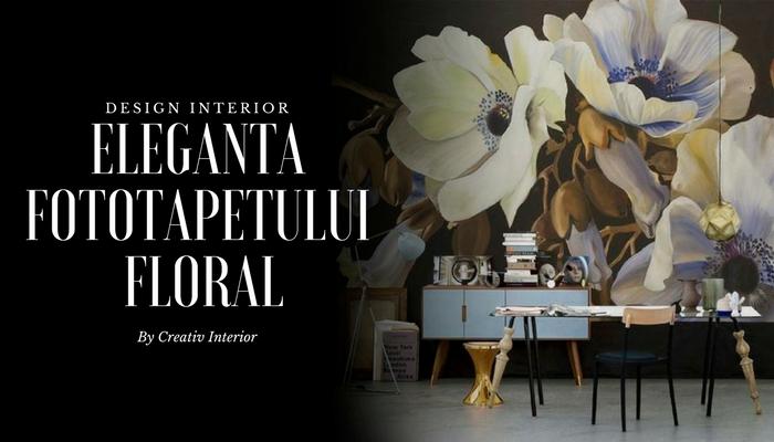 Eleganta fototapetului floral creativ interior