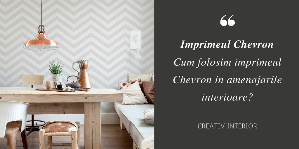 Imprimeul Chevron in designul interior