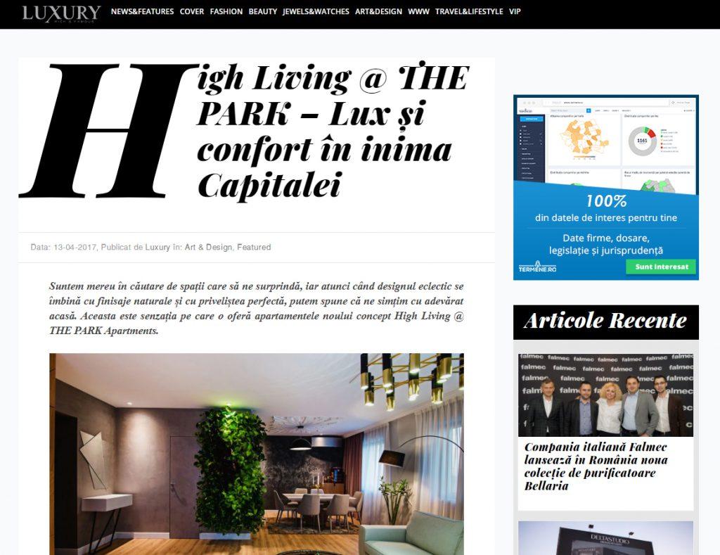luxury proiect the park