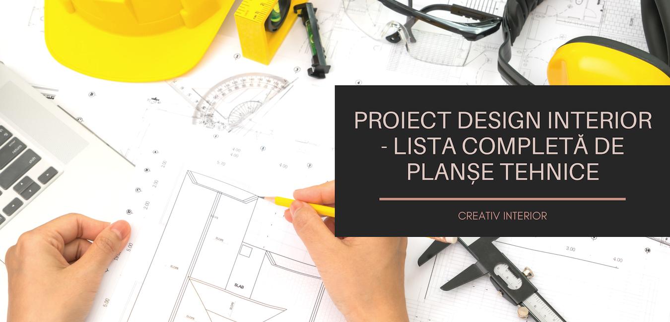 Proiect design interior planse tehnice