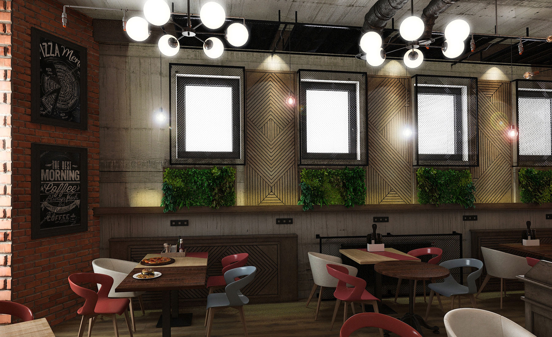 Design interior Fast food Doner Kebab