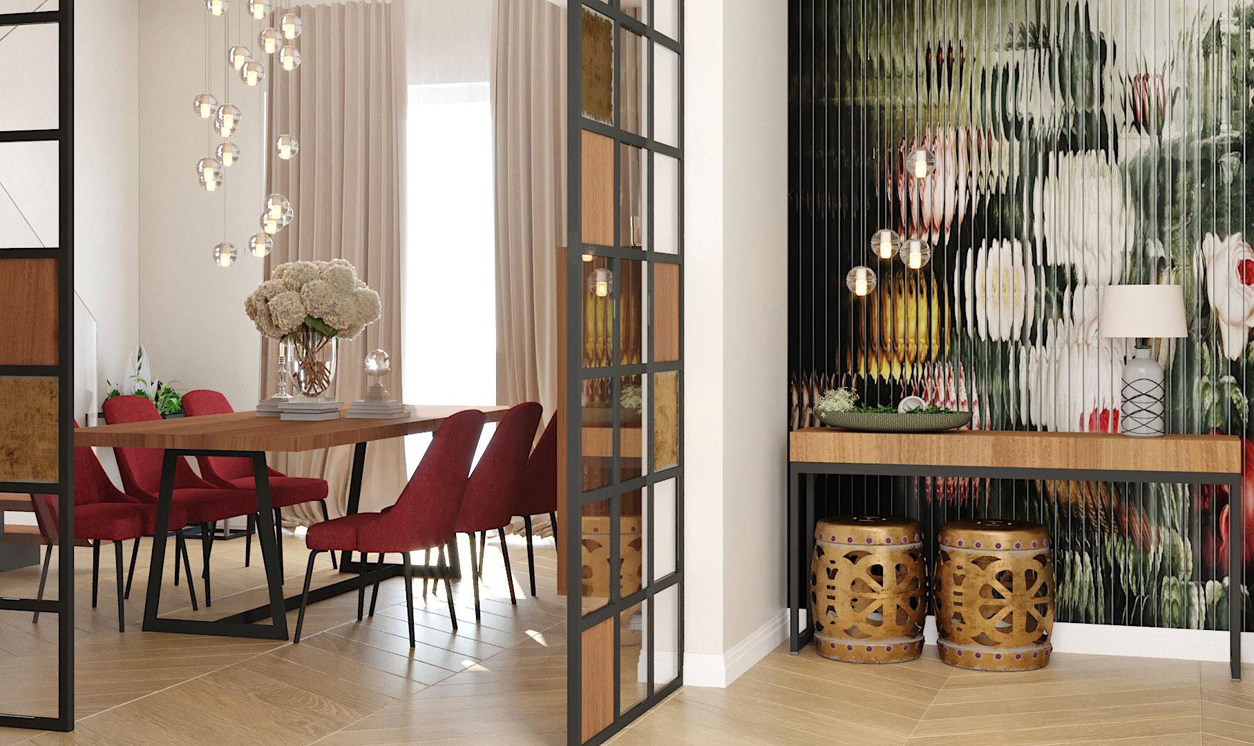 design interior duplex industrial elegant