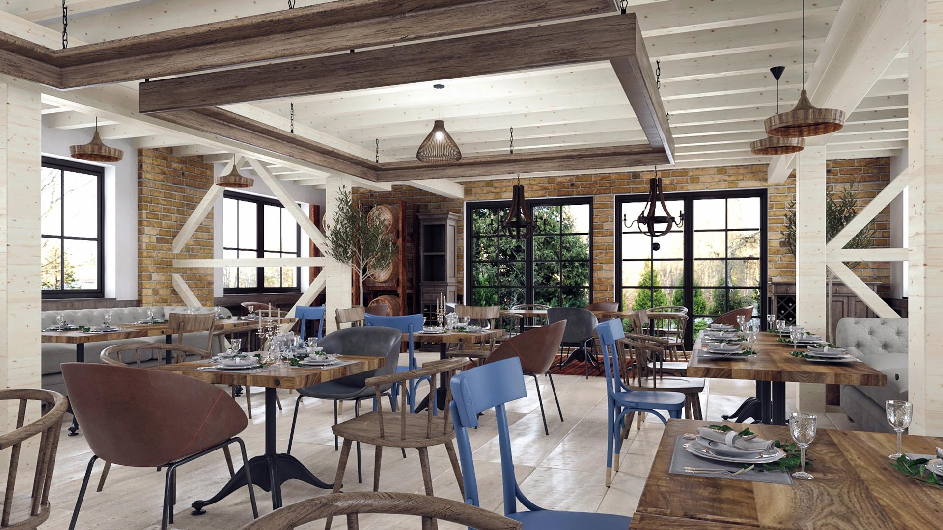 design interior restaurant country domeniile panciu